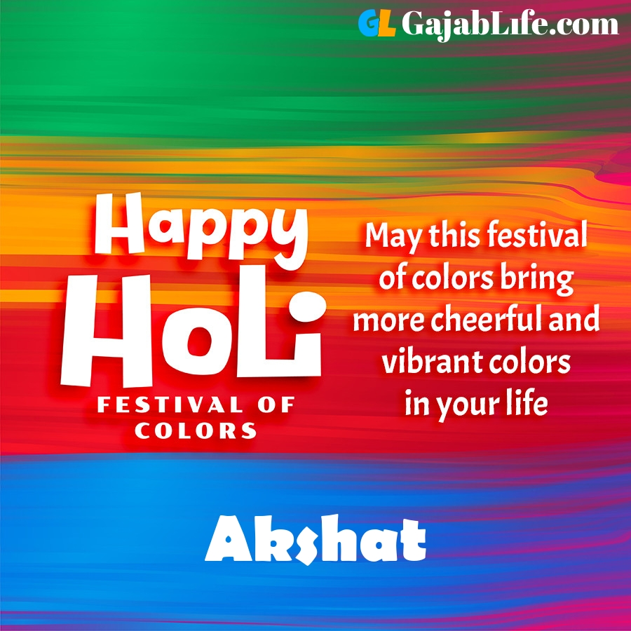 Akshat happy holi festival banner wallpaper