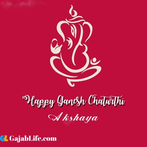 Akshaya happy ganesh chaturthi 2020
