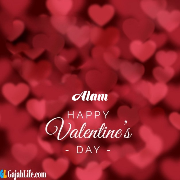 Alam write name on happy valentines day images