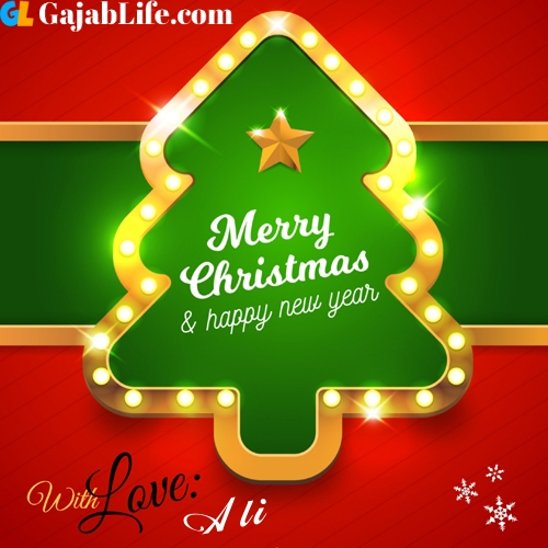 Ali happy new year and merry christmas wishes messages images