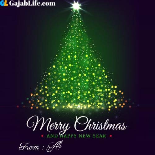 Ali wish you merry christmas with tree images
