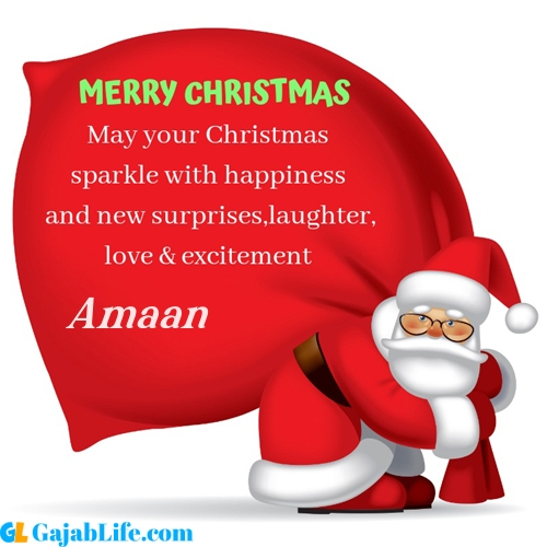 Amaan merry christmas images with santa claus quotes