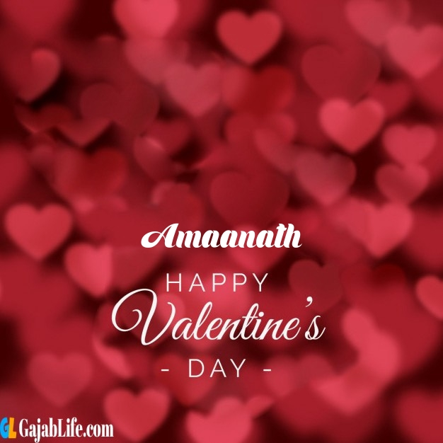 Amaanath write name on happy valentines day images