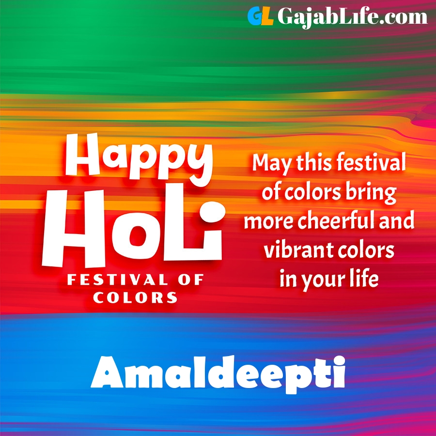 Amaldeepti happy holi festival banner wallpaper