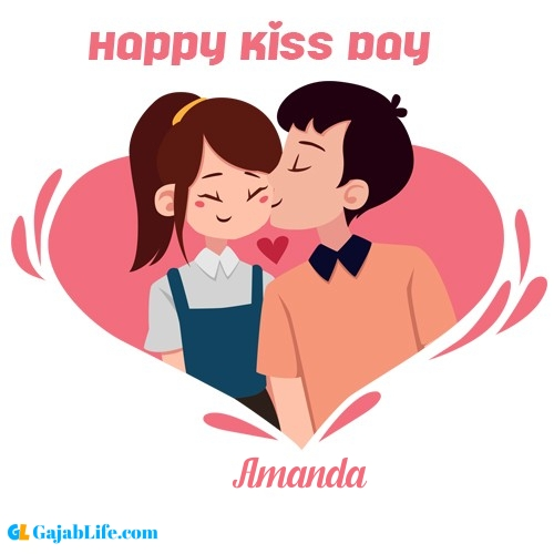 Amanda happy kiss day wishes messages quotes