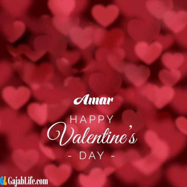 Amar write name on happy valentines day images