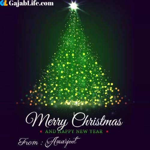 Amarjeet wish you merry christmas with tree images