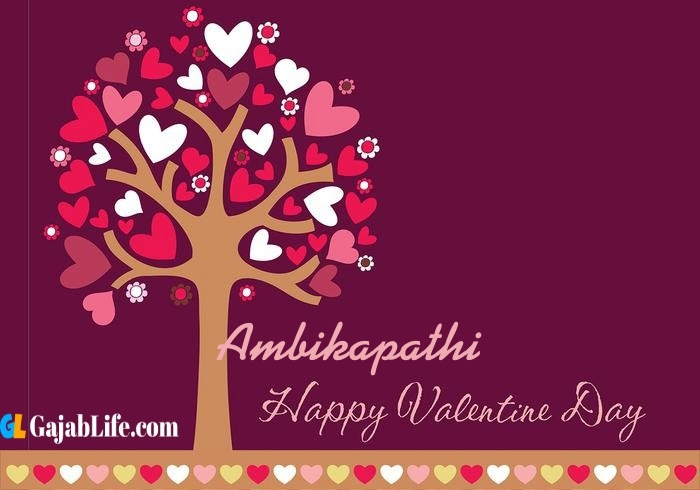 Ambikapathi romantic happy valentines day wishes image pic greeting card