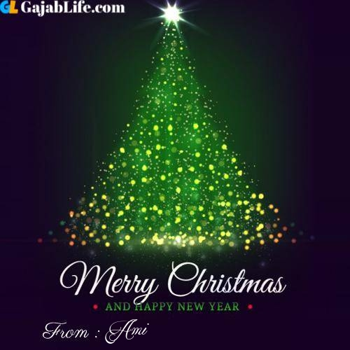Ami wish you merry christmas with tree images