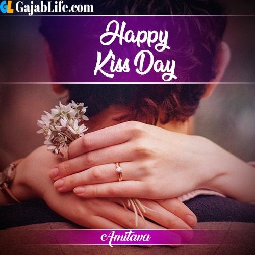 Amitava happy kiss day 2020 with name