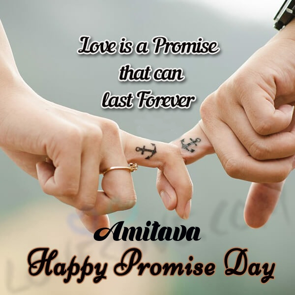 Amitava promise day messages, promise day sms & wishes