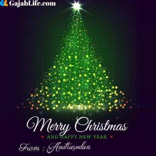 Amitrasudan wish you merry christmas with tree images