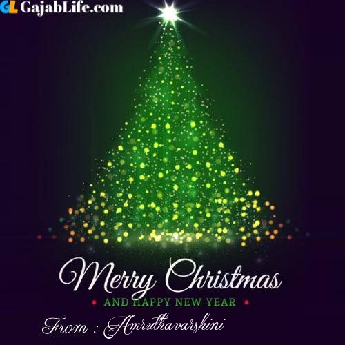 Amruthavarshini wish you merry christmas with tree images