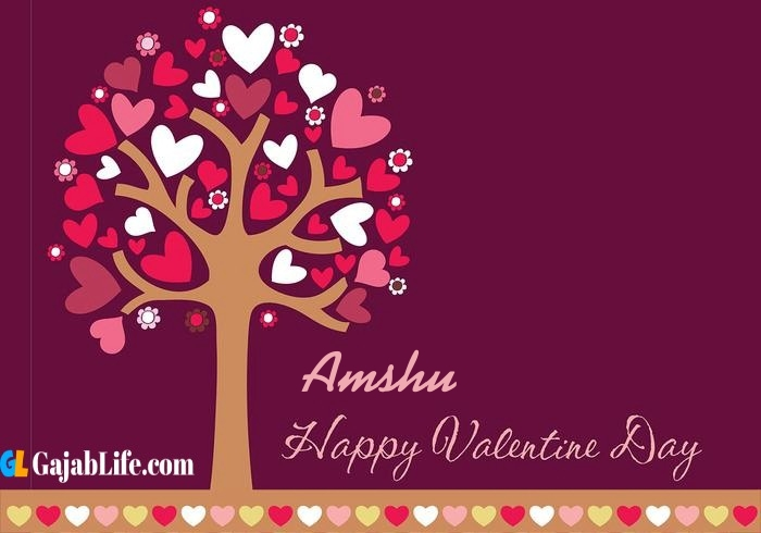 Amshu romantic happy valentines day wishes image pic greeting card