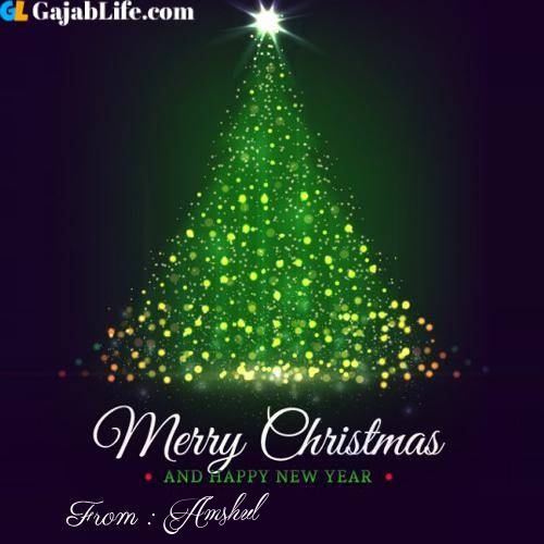 Amshul wish you merry christmas with tree images