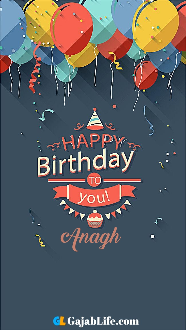 Birthday wish image with name anagh