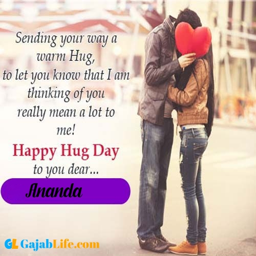 Ananda hug day images with quotes & shayari hug day