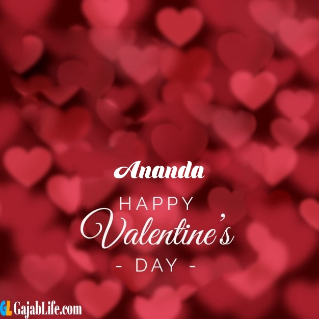 Ananda write name on happy valentines day images