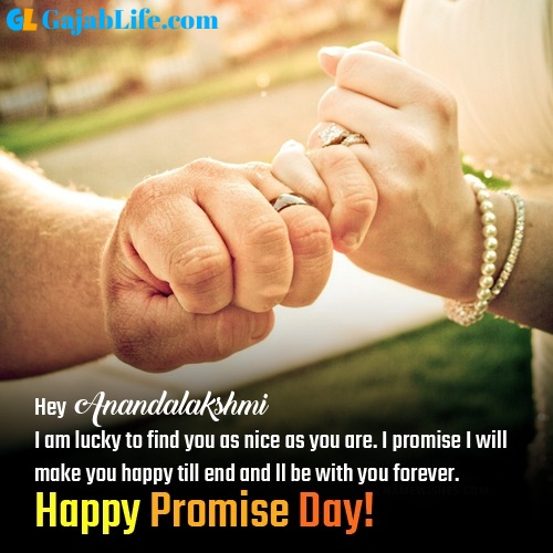 Anandalakshmi happy promise day images