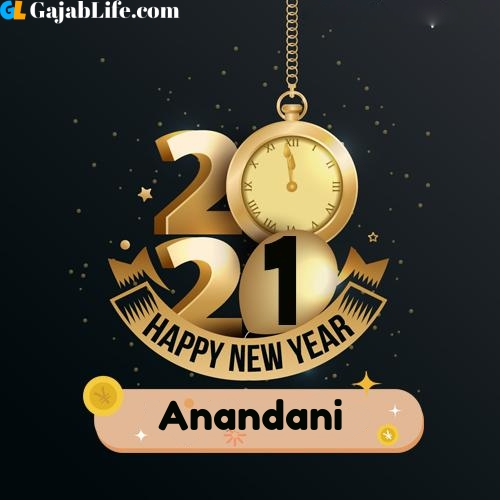 Anandani happy new year 2021 wishes images