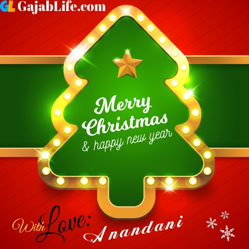 Anandani happy new year and merry christmas wishes messages images