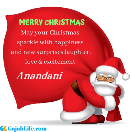 Anandani merry christmas images with santa claus quotes
