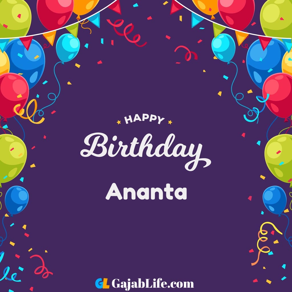 Ananta happy birthday wishes images with name