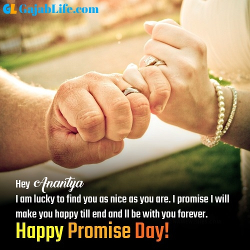 Anantya happy promise day images