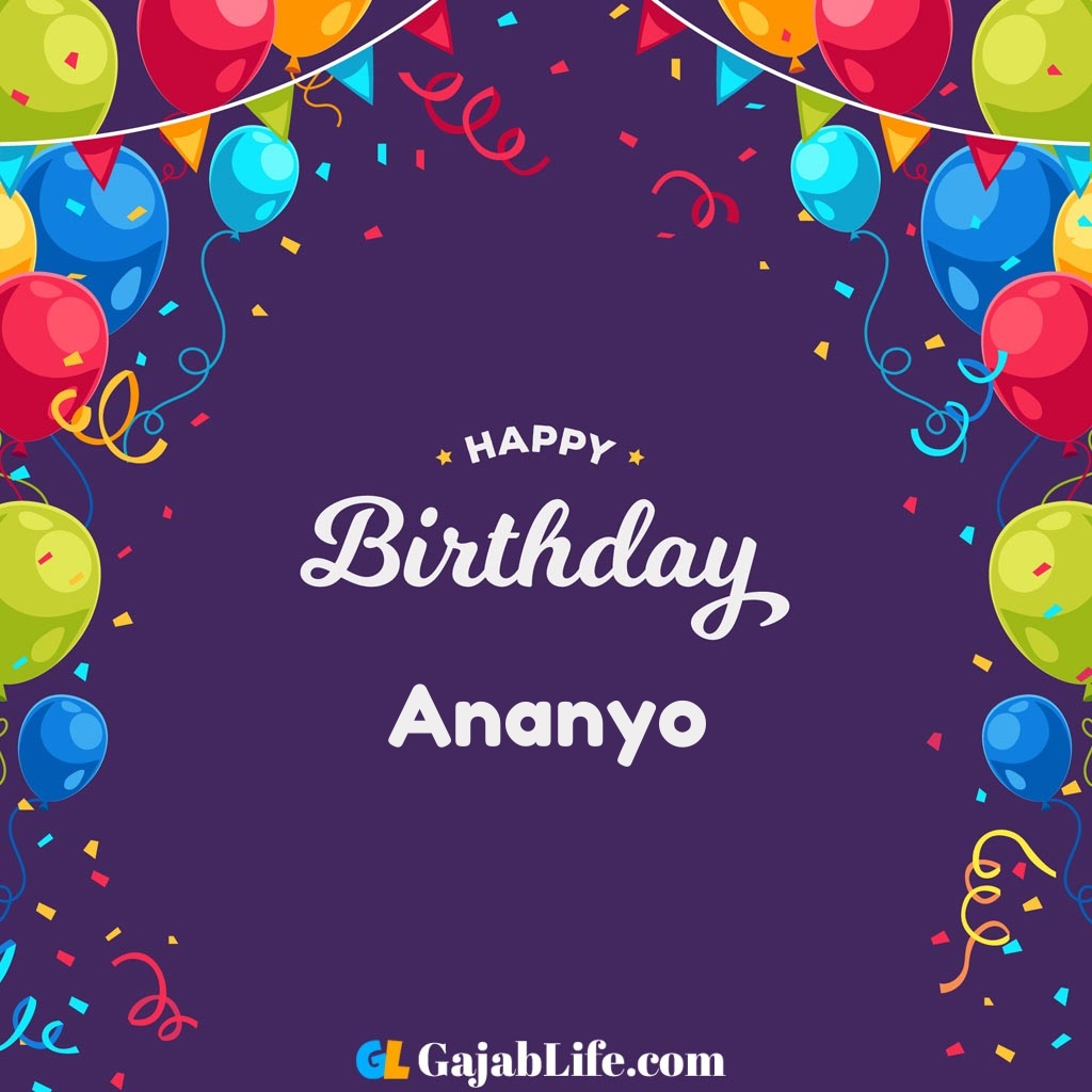 Ananyo happy birthday wishes images with name