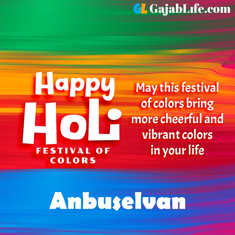 Anbuselvan happy holi festival banner wallpaper