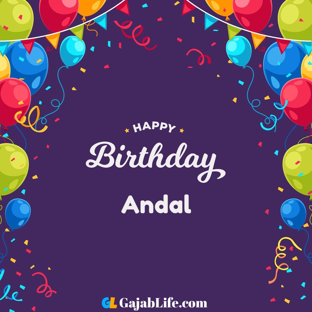 Andal happy birthday wishes images with name