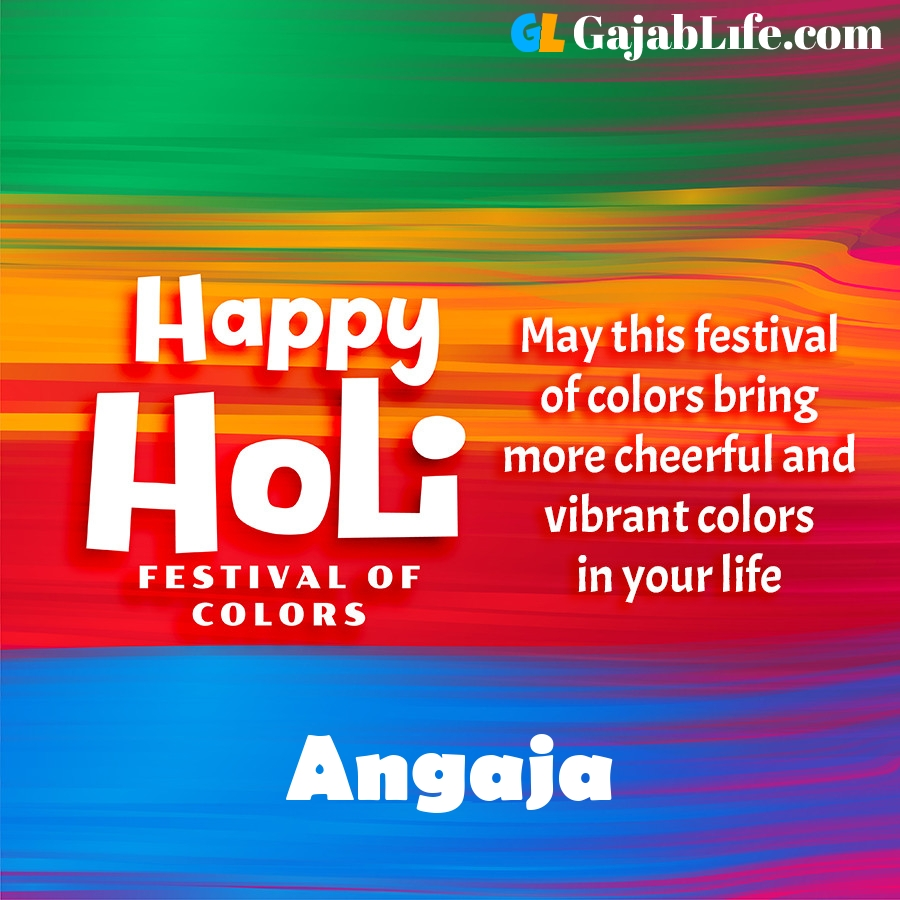 Angaja happy holi festival banner wallpaper