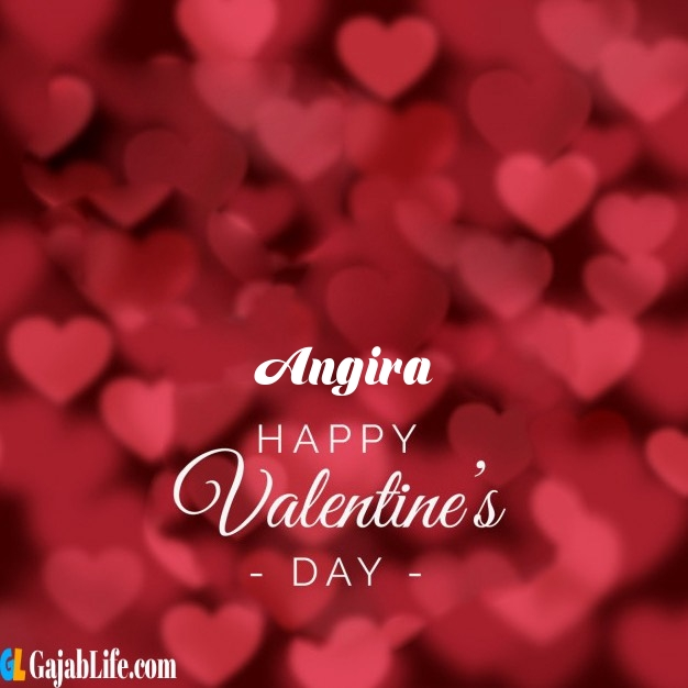 Angira write name on happy valentines day images
