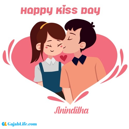 Aninditha happy kiss day wishes messages quotes