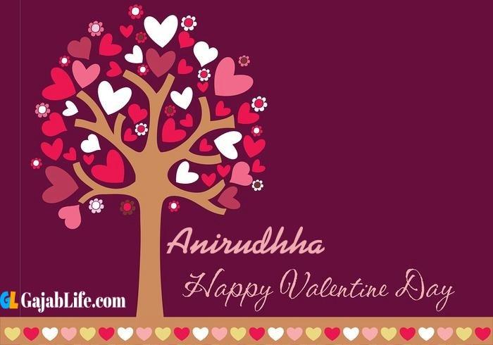 Anirudhha romantic happy valentines day wishes image pic greeting card