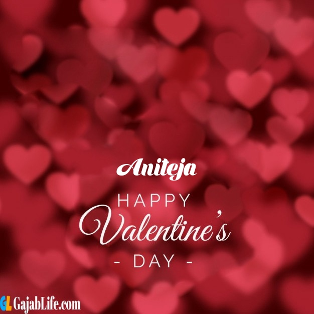 Aniteja write name on happy valentines day images