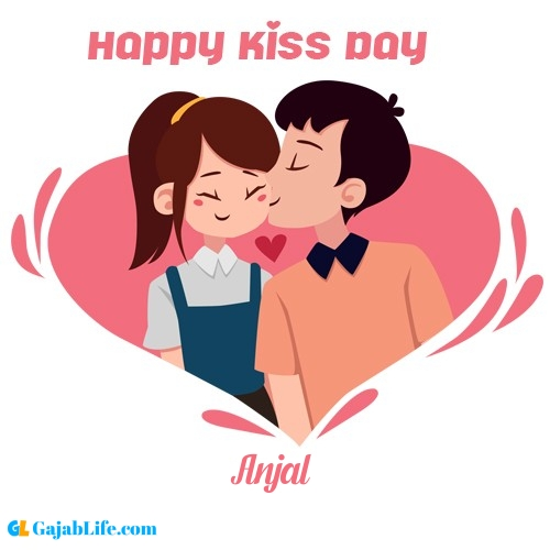 Anjal happy kiss day wishes messages quotes