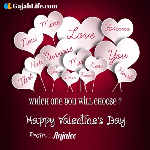 Anjalee happy valentine days stock images, royalty free happy valentines day pictures