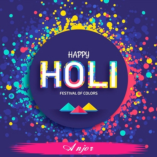 Anjor holi greetings cards  exclusive collection of holi cards