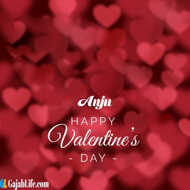Anju write name on happy valentines day images