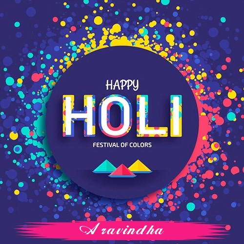 Aravindha holi greetings cards  exclusive collection of holi cards
