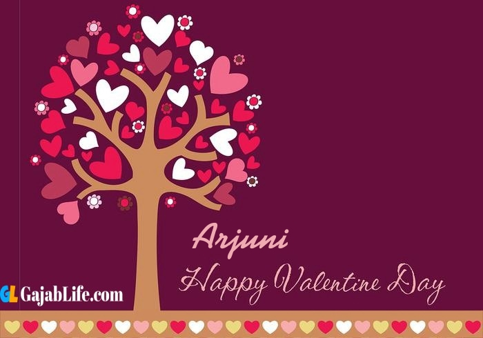 Arjuni romantic happy valentines day wishes image pic greeting card