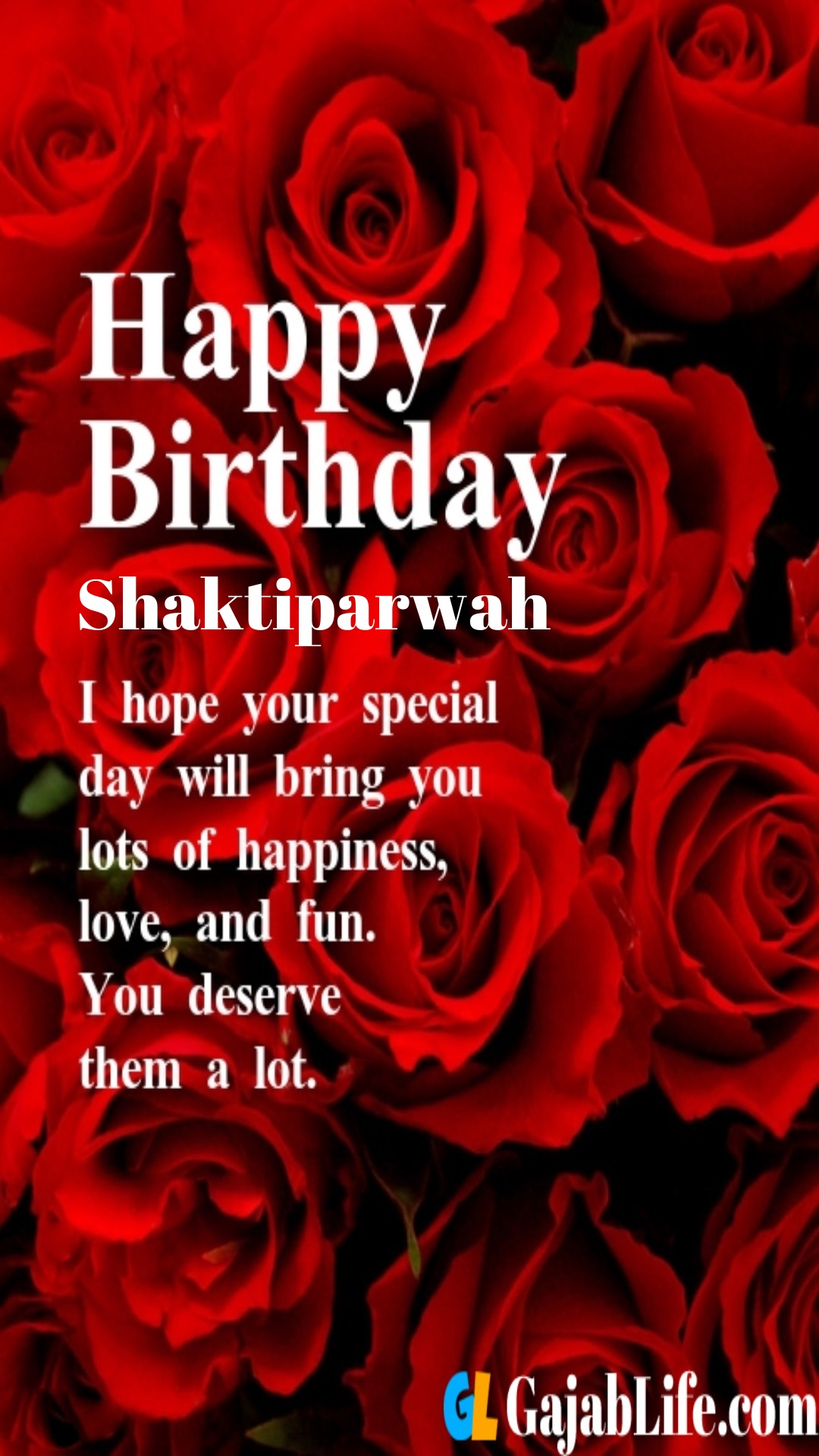 Shaktiparwah birthday greeting card with rose & love