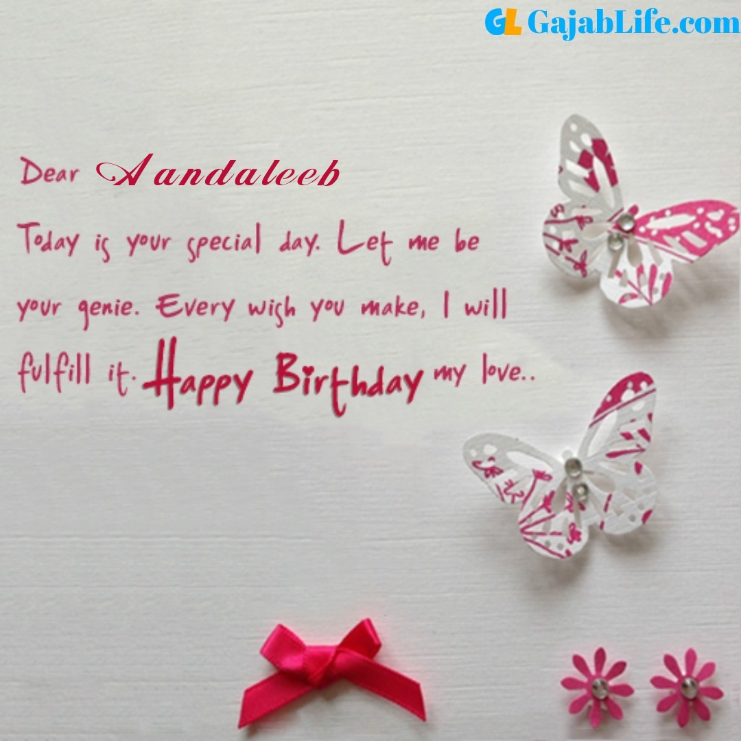 Aandaleeb birthday wishes for love partner