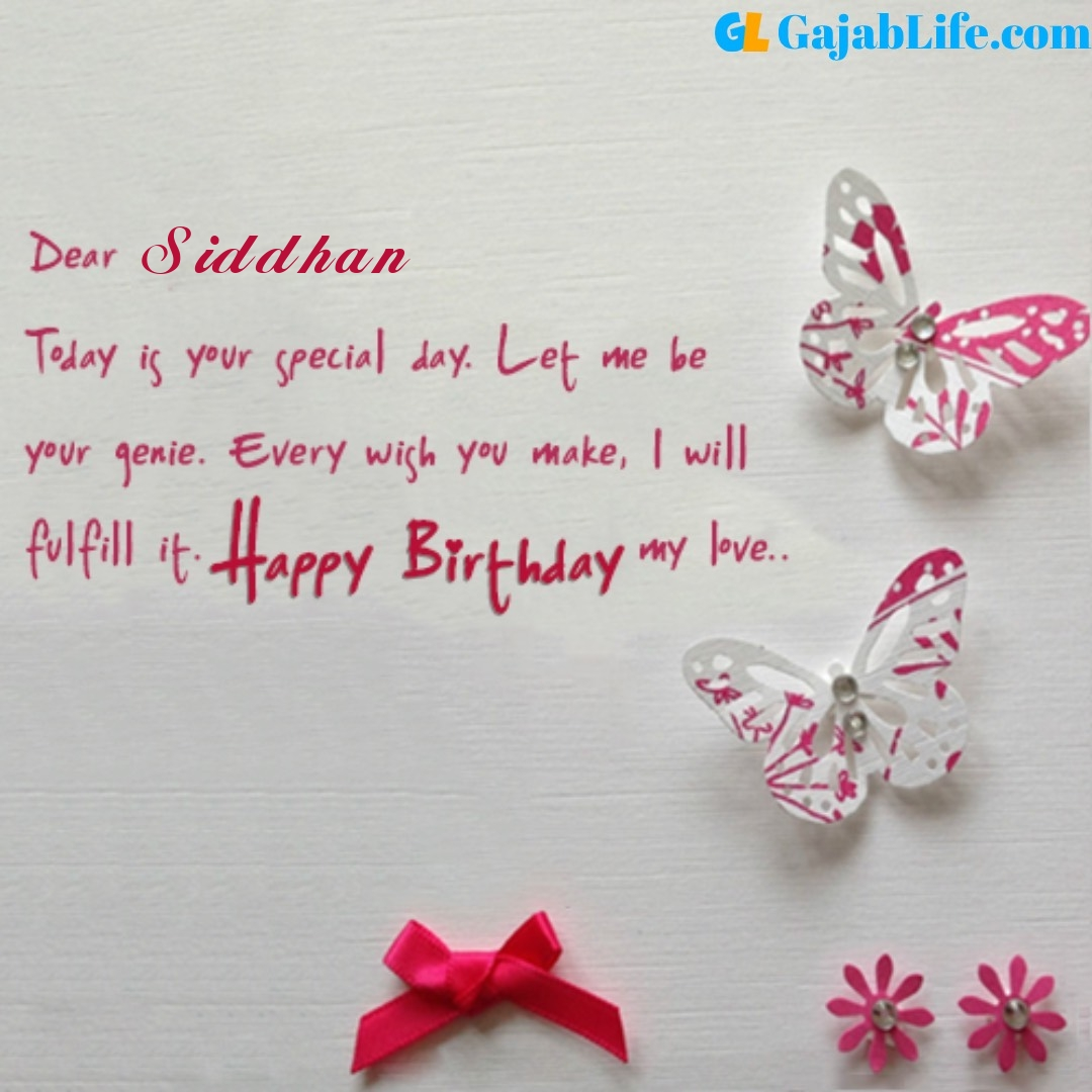 Siddhan birthday wishes for love partner