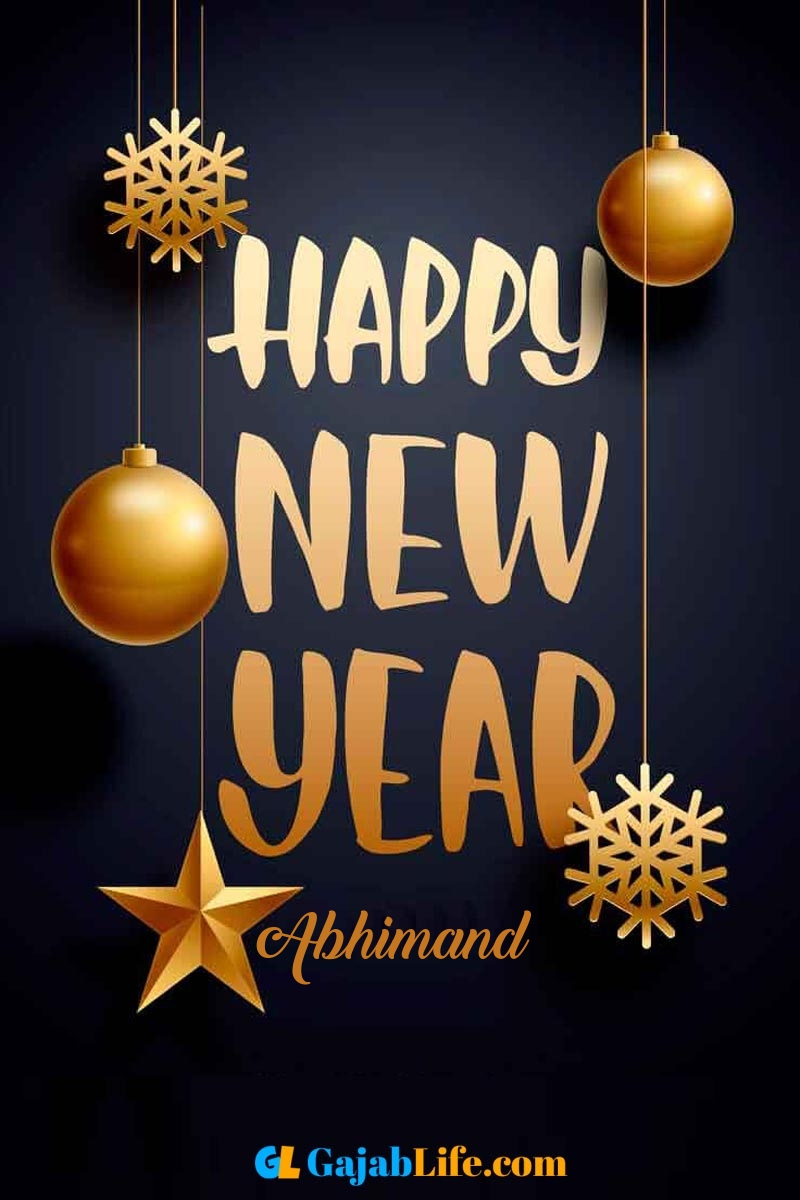 Abhimand create happy new year card images