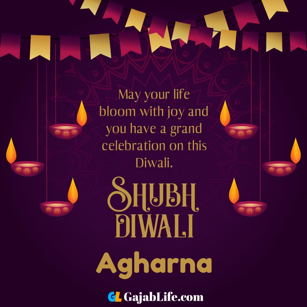 Agharna create happy diwali greeting card with name.