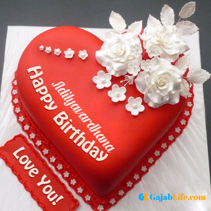 Free happy birthday love adityavardhana wish image cake with name