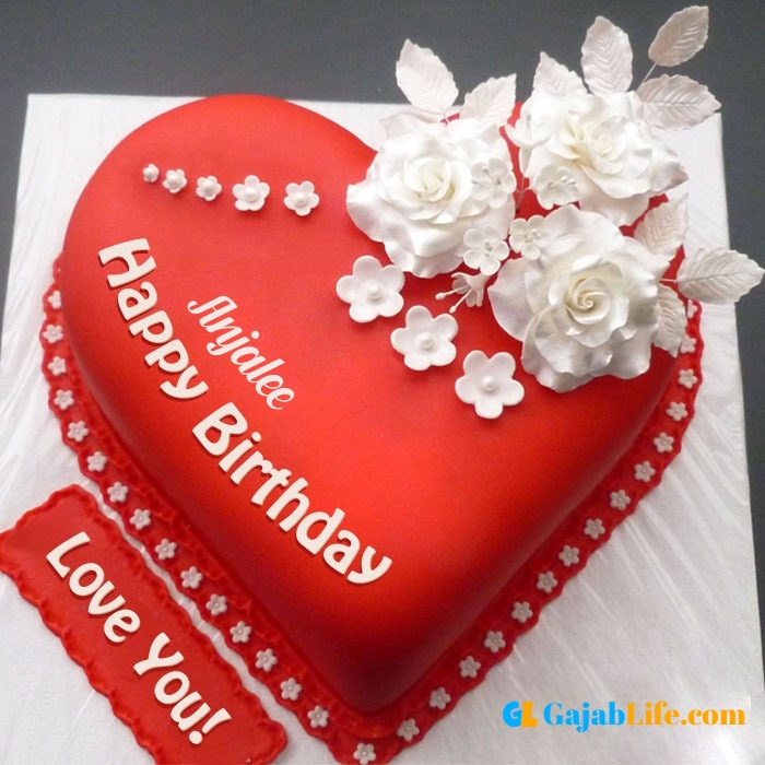 Free happy birthday love anjalee wish image cake with name
