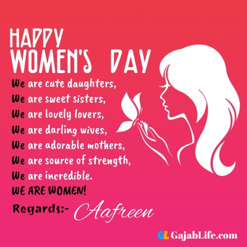 Free happy womens day aafreen greetings images